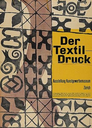 Honegger-Lavater Gottfried - Der Texil-Druck