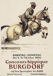 Hugentobler Iwan Edwin - Concours hippique Burgdorf
