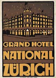 Seifert Hermann Rudolf - Hotel National Zürich