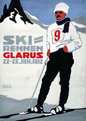 Huber Emil - Ski-Rennen Glarus