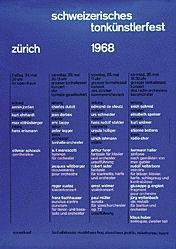 Müller-Brockmann Josef - Tonkünstlerfest Zürich
