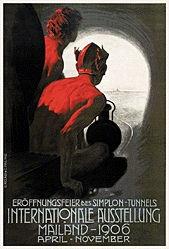 Metlicovitz Leopoldo - Eröffnungsfeier des Simplon-Tunnels