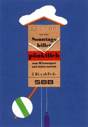 Brun Donald - SBB - Sonntagsbillet