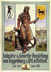 Monogramm T.W. - Gewerbe-Ausstellung von Toggenburg