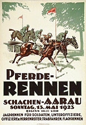 Anonym - Pferderennen Aarau
