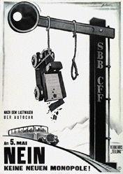 Fontanet Noël - Verkehrsteilung Nein
