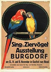 Monogramm F.F. - Ziervögel-Ausstellung