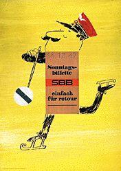 Perret Paul-André - SBB - Sonntagsbillette