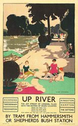 Sheringham George - Up river by tram from