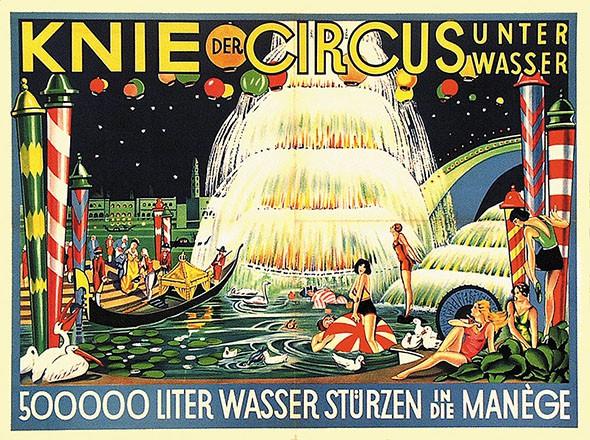 Anonym - Knie der Circus unter Wasser