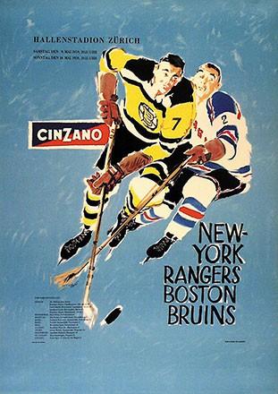 Peuer - New York Rangers-Boston Bruins