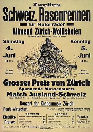 Anonym - Zweites Schweiz. Rasenrennen
