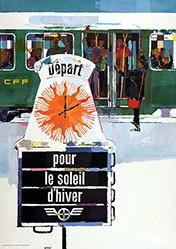 Wetli Hugo - CFF - Depart pour le soleil d'hiver