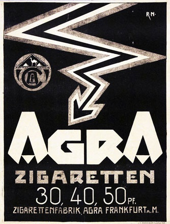 Monogramm R.N. - Agra Zigaretten