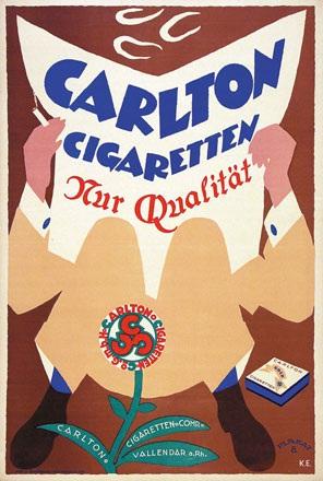 Monogramm K.E. - Carlton Cigaretten