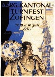 Monogramm H.S. - Kantonal-Turnfest Zofingen