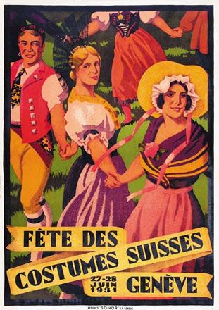 Courvoisier Jules - Fête des Costumes Suisse