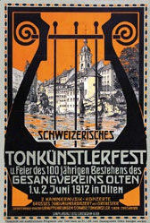 Monogramm E.M. - Tonkünstlerfest Olten