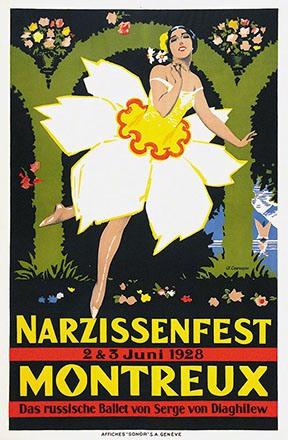 Courvoisier Jules - Narzissenfest Montreux