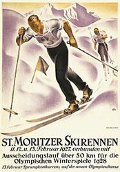 Moos Carl - St. Moritzer Skirennen