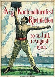 Monogramm P.W. - Aarg. Kantonalturnfest Rheinfelden