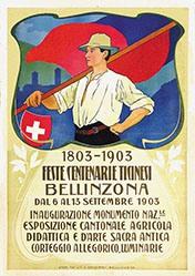 Monogramm TP. - Feste centenarie Ticinesi