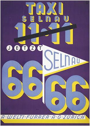 Monogramm K.W. - Taxi Selnau - Welti-Furrer