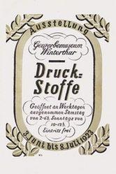 Monogramm W.D. - Druck-Stoffe