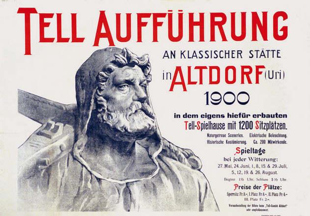 Anonym - Tell Aufführung Altdorf