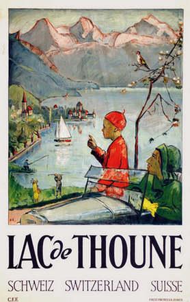 Monogramm H.R. - Lac de Thoune