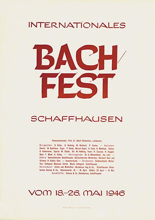 Malitschke - Internationales Bach Fest