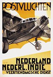 van't Hoff Adriaan Johannes - Postvluchten Nederland