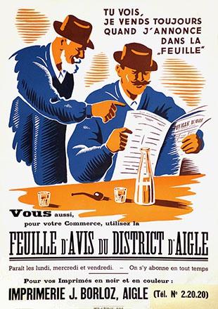 Anonym - Feuille d'Avis du district d'Aigle