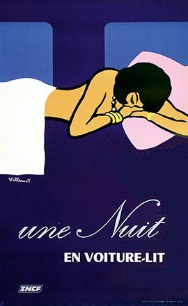 Villemot Bernard - SNCF - une Nuit en voiture-lit