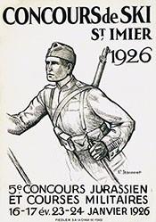 Jeanneret Ernest - Concours de Ski - St. Imier