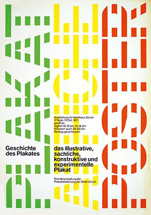Müller-Yoshikawa Shizuko - Geschichte des Plakates