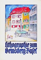 Mangold Burkhard - Lithographie Gemsberg