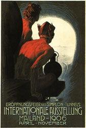 Metlicovitz Leopoldo - Eröffnungsfeier des Simplon-Tunnel