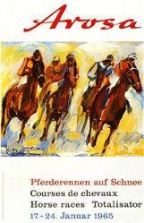 Hausamann & Brun - Arosa - Pferderennen auf Schnee