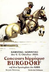 Hugentobler Iwan E. - Concours Hippique Burgdorf