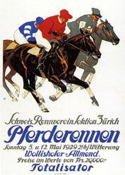 Hugentobler Iwan Edwin - Pferderennen - Wollishofer-Allmend