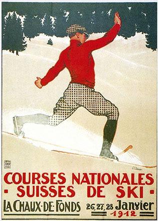 Courvoisier Jules - Courses nationales Suisses de Ski -