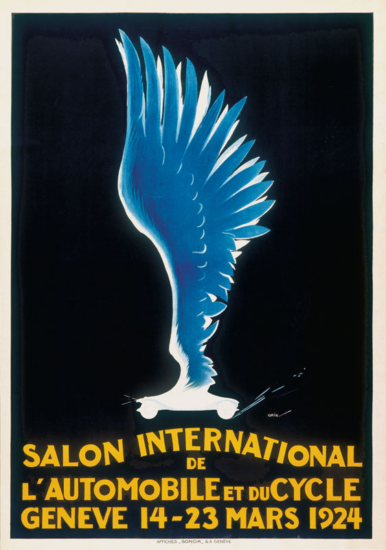 Grin edmond henri salon international de l 39 automobile gen ve - Salon international de l automobile de geneve ...