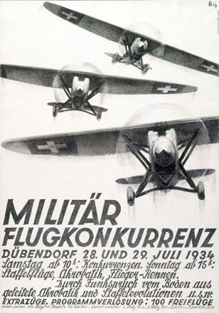Baumberger Otto - Militär Flugkonkurrenz Dübendorf