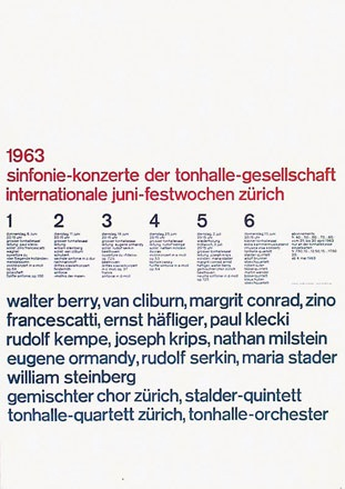 Müller-Brockmann Josef - Juni Festwochen