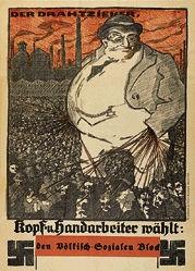 Monogramm M.E. - Völkisch-Sozialer Block