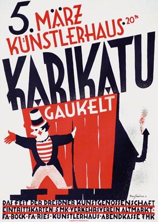 Gaudeck Franz - Künstlerhaus - Karikatu gaukelt