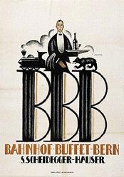 Stauffer Fred - Bahnhof-Buffet-Bern