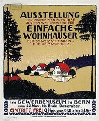 Cardinaux Emil - Ausstellung einfache Wohnhäuser
