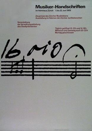 Rüegg Ruedi - Musiker Handschriften